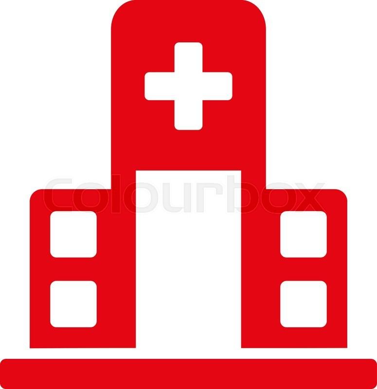 Hospital Building vector icon  Style     | Stock vector
