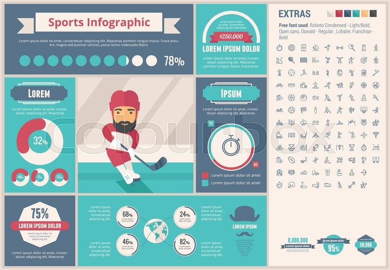 sports infographics templates - sports infographic template and elements the template
