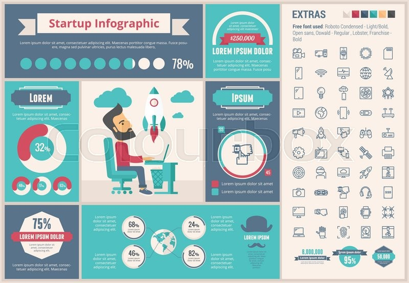 """Infographic Ideas buy infographic template : Buy Stock Vector """"Start up infographic template and elements. The ..."""