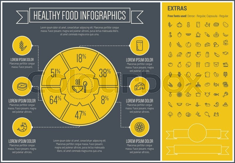 """Infographic Ideas buy infographic template : Buy Vector """"Healthy Food infographic template and elements. The ..."""