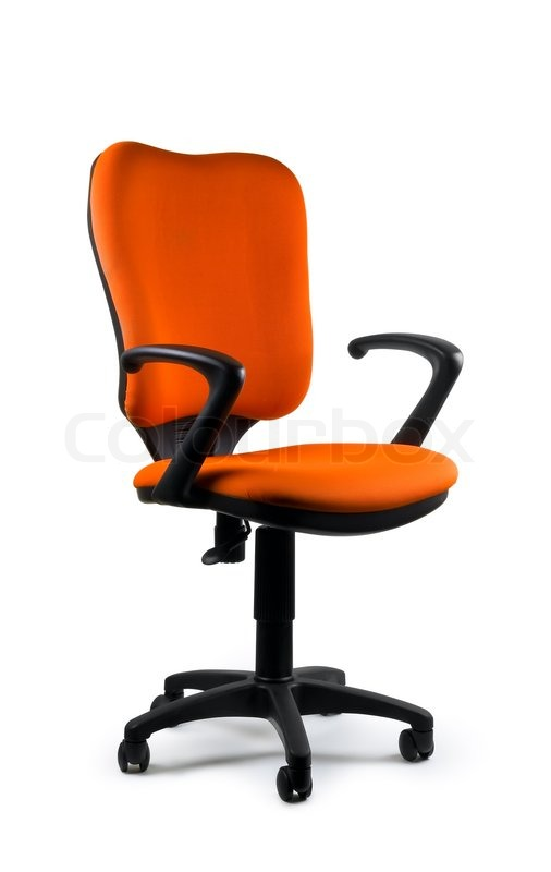 Charmant Modern Orange Swivel Chair Isolated On White. Isolated Path Included. |  Stock Photo | Colourbox