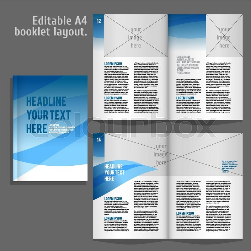 a4 book geometric abstract layout design template with