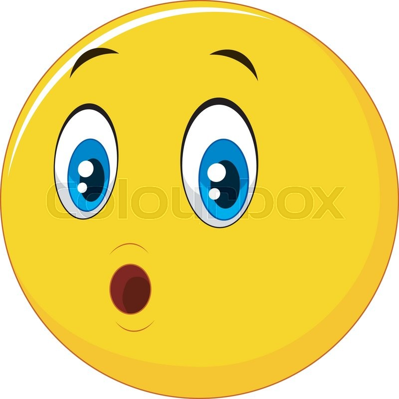 vector illustration of surprised emoticon face cartoon stock rh colourbox com surprised cartoon face surprised cartoon face
