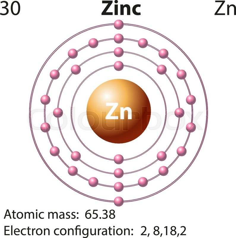 symbol and electron diagram for zinc illustration | stock ... labeled diagram of carbon atom diagram of zinc atom #12