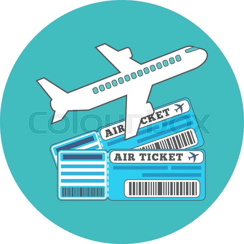 Traveling Ticket Booking Concept Flat Design Icon In Turquoise Circle On White Background