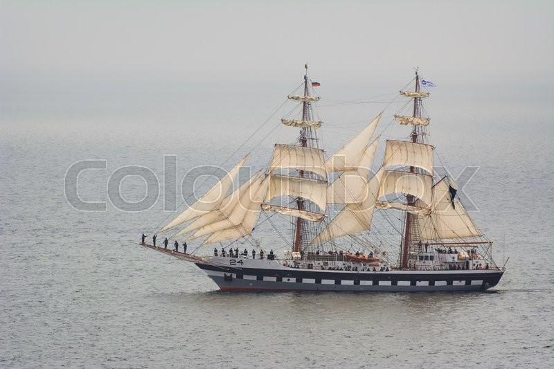 VARNA, BULGARIA - MAY 3, 2014: Sail Training Ship \
