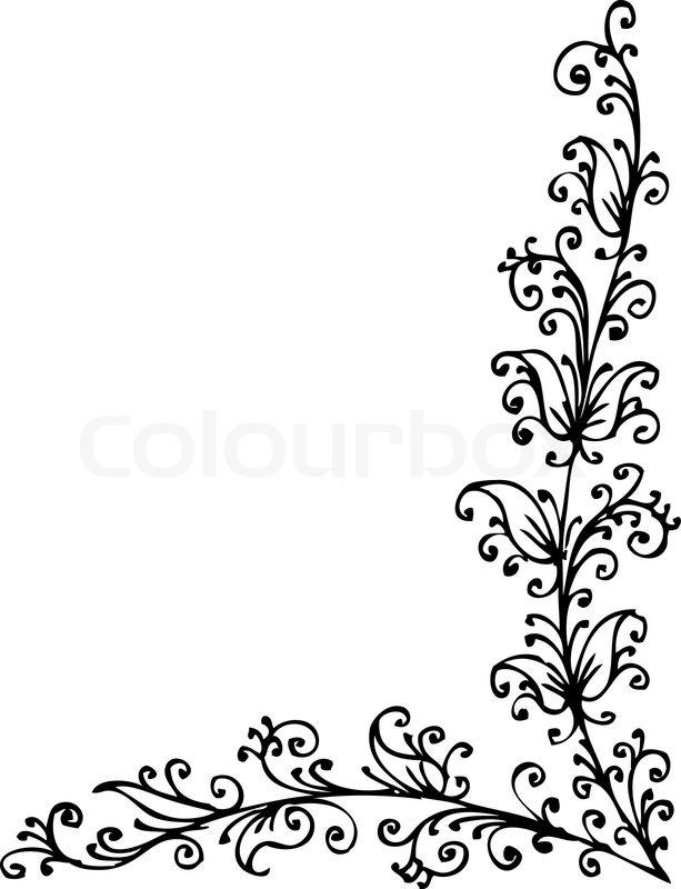floral vignette 398 eau forte dekorativen hintergrund textur vektor illustration eps 8. Black Bedroom Furniture Sets. Home Design Ideas