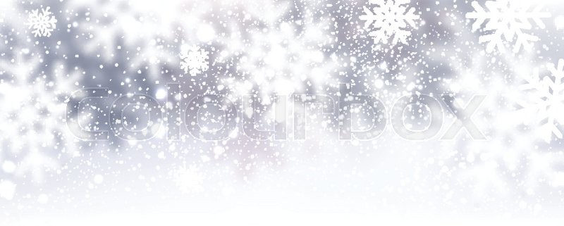 Winter Background With Snowflakes Vector Illustration Stock Vector Colourbox