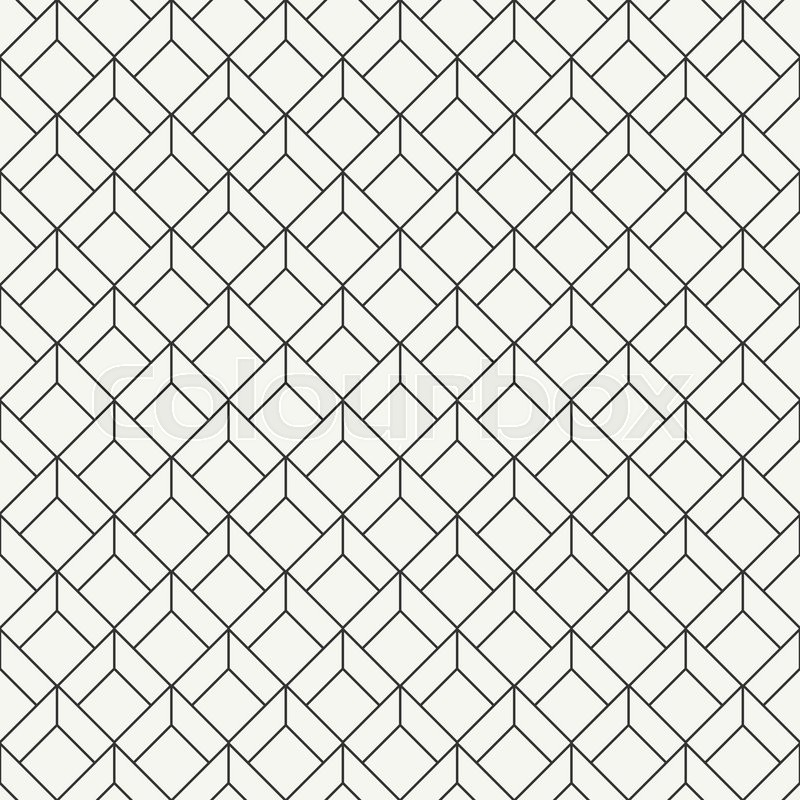 Geometric Abstract Seamless Cube Stock Vector Colourbox