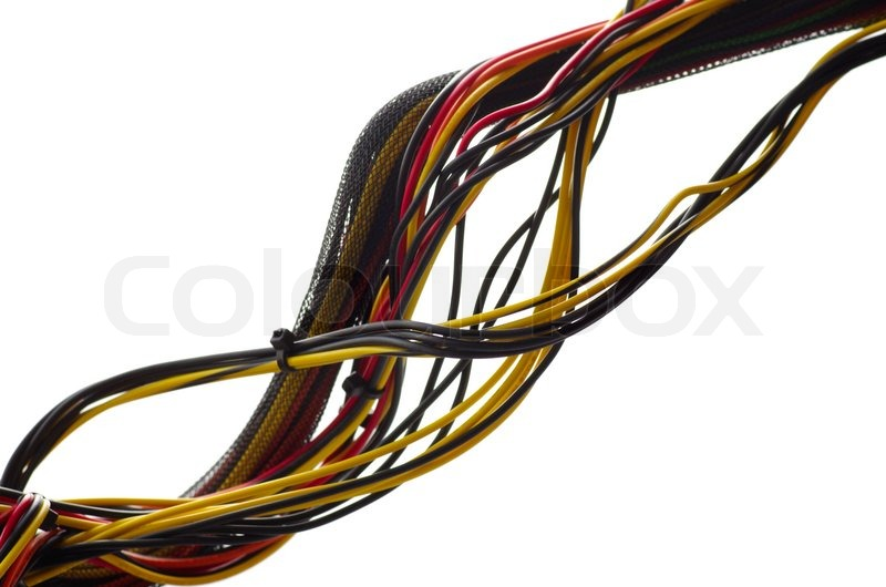 colored computer wires against the bright background stock photo rh colourbox com computer wires and connectors in new jersey computer wires and connectors in new jersey