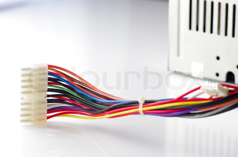 colored computer wires against the bright background stock photo rh colourbox com computer wires extensions computer wires and connectors