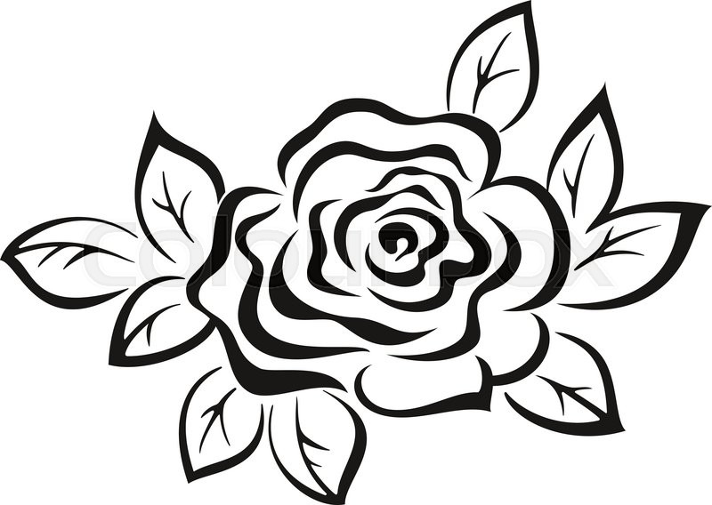Rose flower monochrome black pictogram icon isolated on white rose flower monochrome black pictogram icon isolated on white background vector stock vector colourbox mightylinksfo