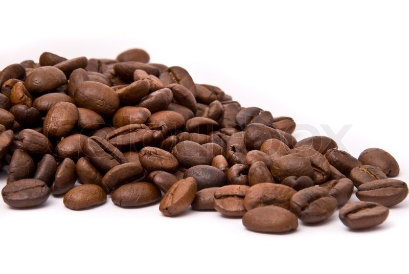 coffee beans on a white background stock photo colourbox