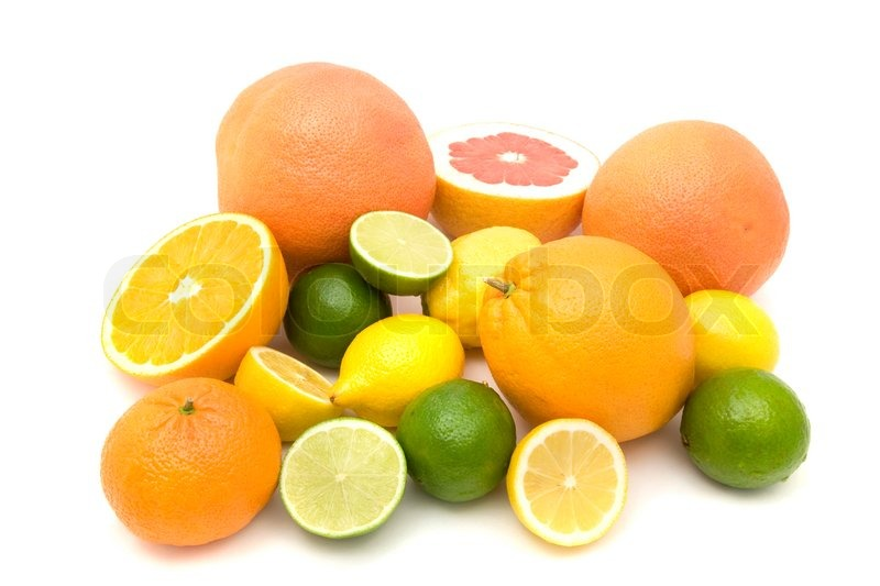 Stock image of 'Different types of citrus fruits'