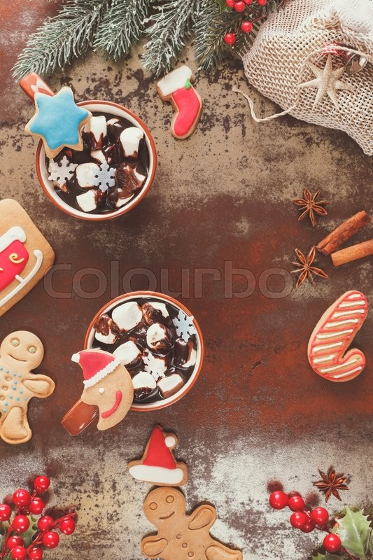 Hot Chocolate With Marshmallow And Stock Image Colourbox