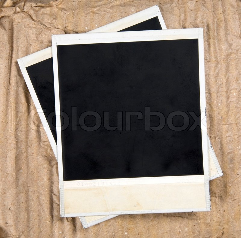 Old Camera Frames On Cardboard Background | Stock Photo | Colourbox