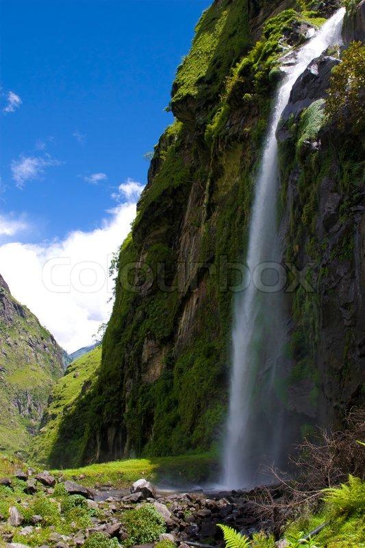 Annapurna Waterfall. Nepal. Rain Season. | Stock Photo ...