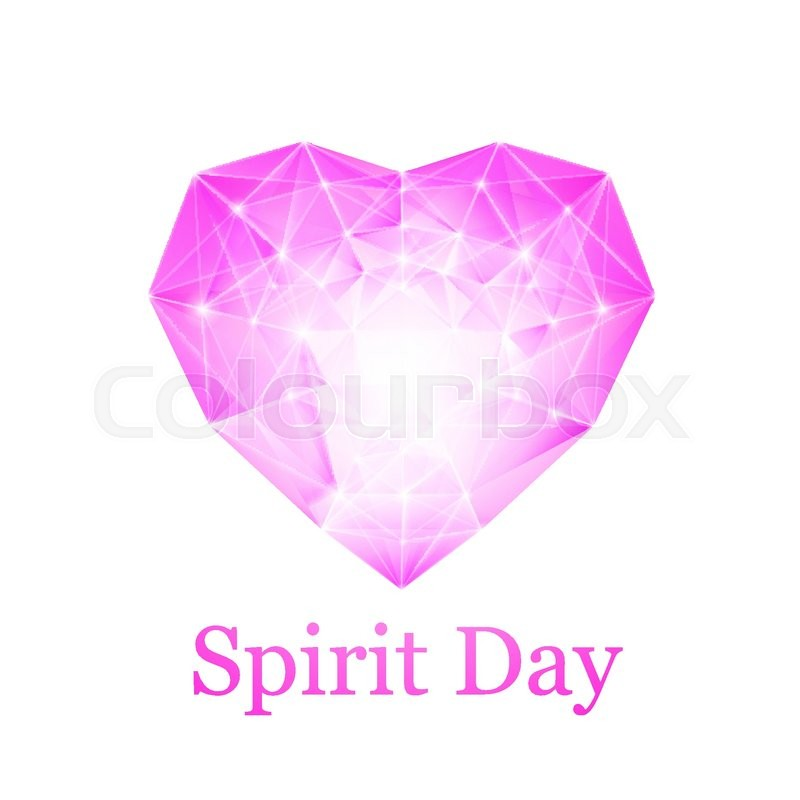 Spirit Day Heart Colored Purple Shade For Your Design A Symbol Of