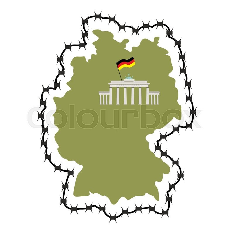 Map Of Germany. Map of States with ... | Stock vector ...