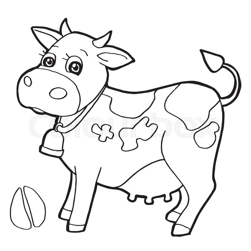 Image Of Cattle With Paw Print Stock Vector Colourbox