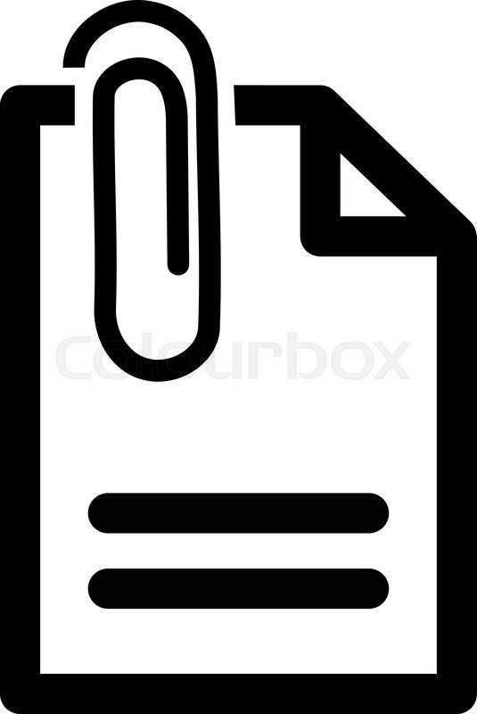 Attach Document vector icon. Style is ... | Stock Vector ...
