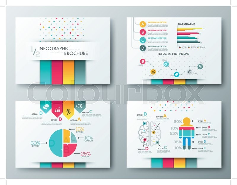 Set Of Flyer Brochure Design Templates Infographic Vector