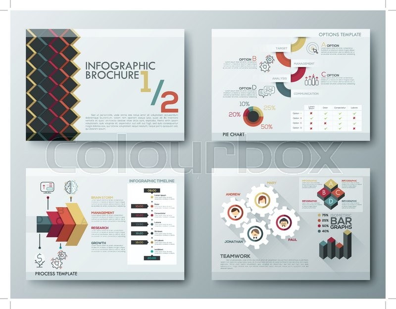 Set Of Flyer, Brochure Design Templates, Infographic Vector
