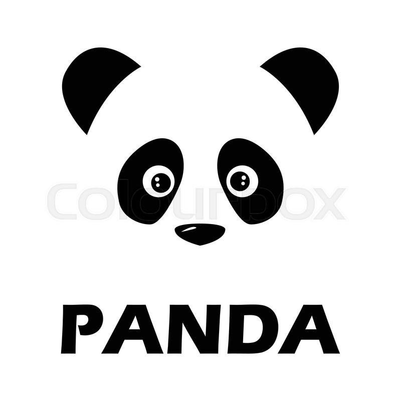 panda sign black logo on a white background stock vector colourbox