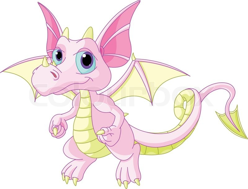 Illustration der cute cartoon baby drachen enth uten - Images de dragons ...