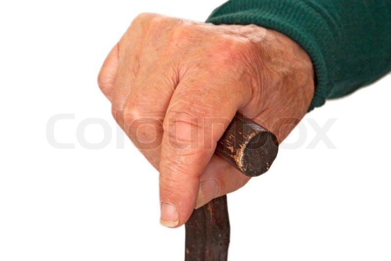 massage bjælkehytte gammel mand med en stok