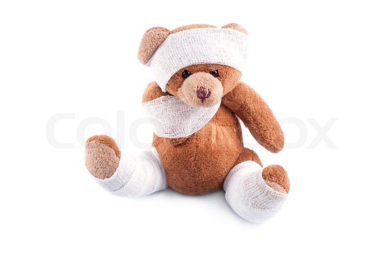 1554013-650518-sick-teddy-in-binden-gewi