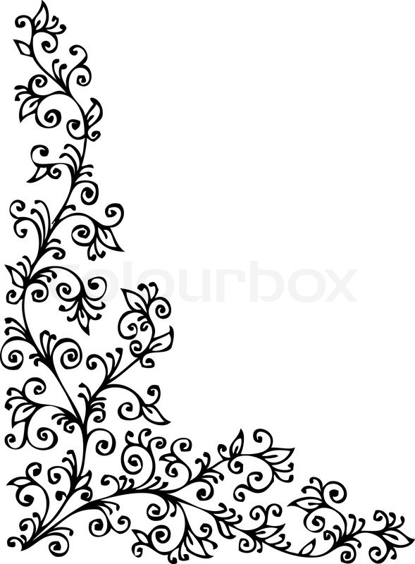 floral vignette 423 eau forte dekorativen hintergrund textur vektor illustration eps 8. Black Bedroom Furniture Sets. Home Design Ideas