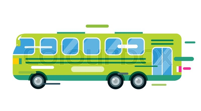 City Bus Cartoon Style Vector. Bus Icon Silhouette. Bus Vector Cartoon  Silhouette. Bus Mobile Fast City Transport. Bus Fast Moving.