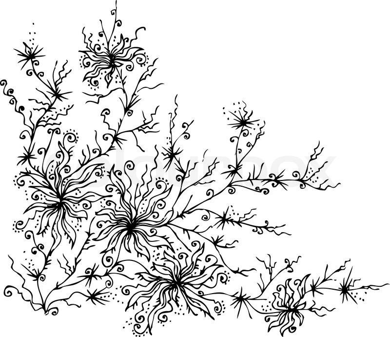 Les Fleurs du mal 9 Eau-forte black-and-white floral background ...