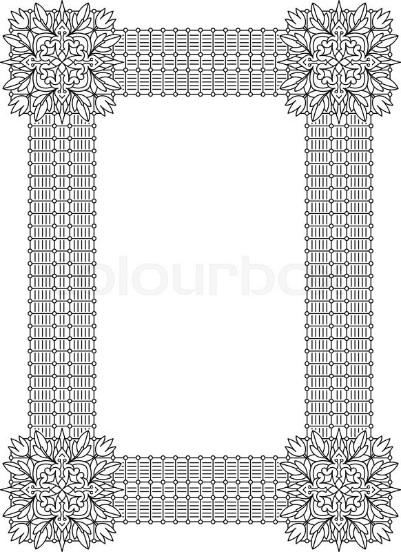Vintage decorative frame can be used for retro vintage greeting can be used for retro vintage greeting card or invitation indian persian islam arabic motifs stock vector colourbox m4hsunfo