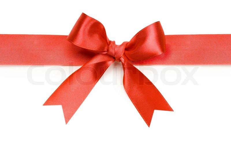 Schöne Rote Schleife Auf Weißem Stock Bild Colourbox