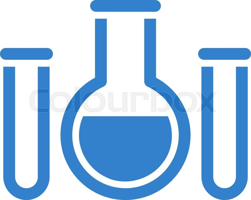 Chemical Vessels Vector Icon Style Is Flat Symbol Cobalt Color