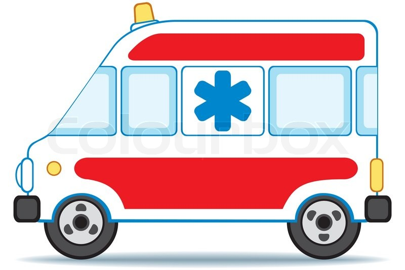 Emergency Car Icon On White Background Stock Vector