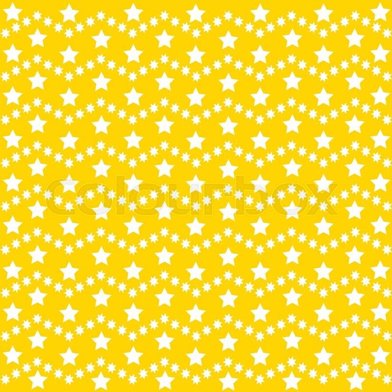vector star background design cute yellow illustration