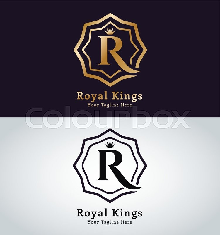 royal logo vector template hotel logo kings symbol royal crests monogram kings top hotel. Black Bedroom Furniture Sets. Home Design Ideas