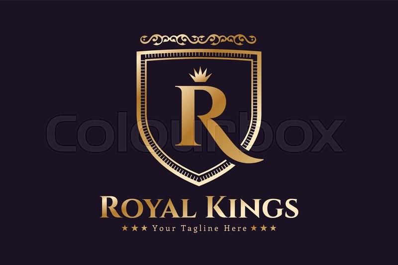 Royal Logo Vector Template Hotel Stock Vector