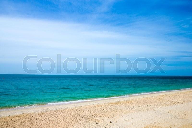 Sea beach and blue sky , stock photo