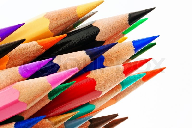 Many Different Colored Pens Color Stock Photo Colourbox