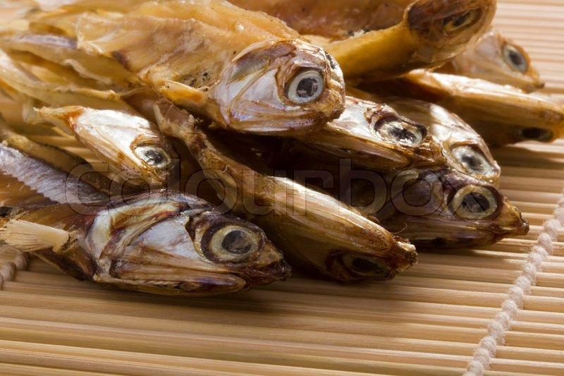 Kleine trockenen Fisch in der asiatischen Küche verwendet ...