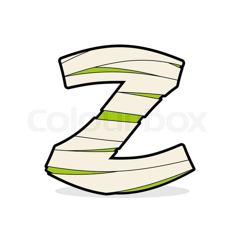 Letter Z Egyptian Zombies Mummy Abc Stock Vector Colourbox
