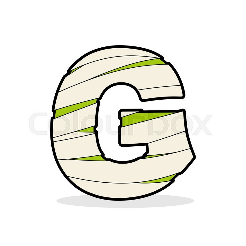 Letter G Mummy Typography Icon In Stock Vector Colourbox
