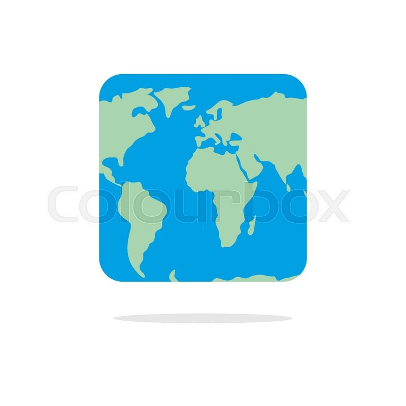 square world map atlas of unusual shape square earth earth in parallel universe stock vector colourbox