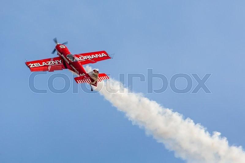 POZNAN, POLAND - JUNE 14: Aerobatic group formation \