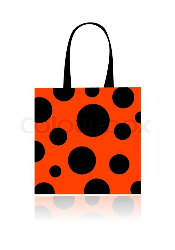 fashion peas shopping bag isolated for your design stock vector