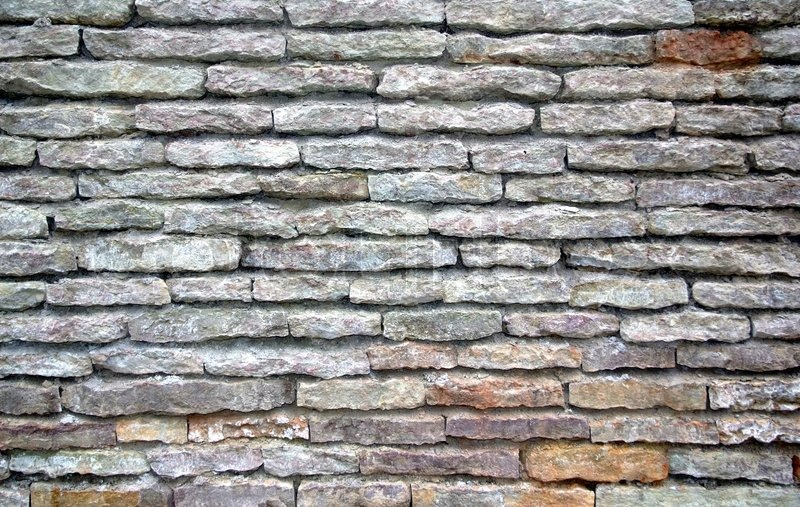 Textur Der Wand Des Alten Grauen Steinen Wie Stein | Stockfoto | Colourbox